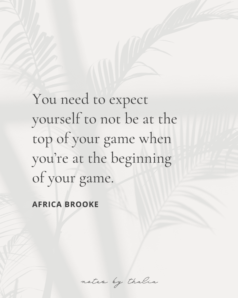 Quote by Africa Brooke from Saturn Returns - my top podcast recommendation