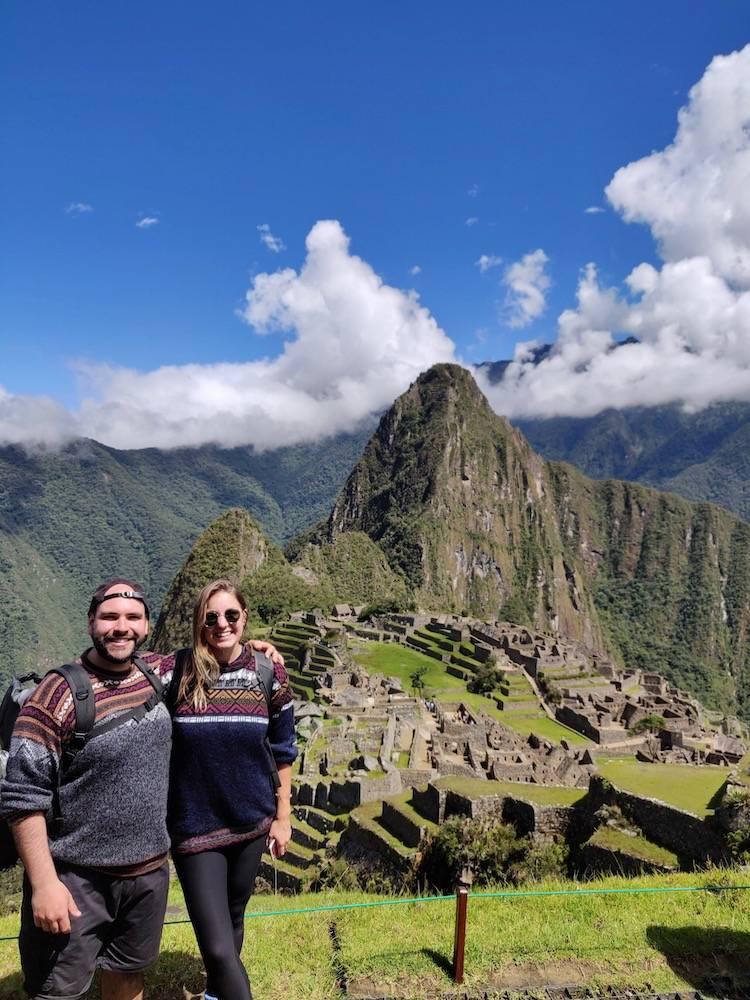 Thalia and John at Machu Picchu pre their entrepreneurial journey