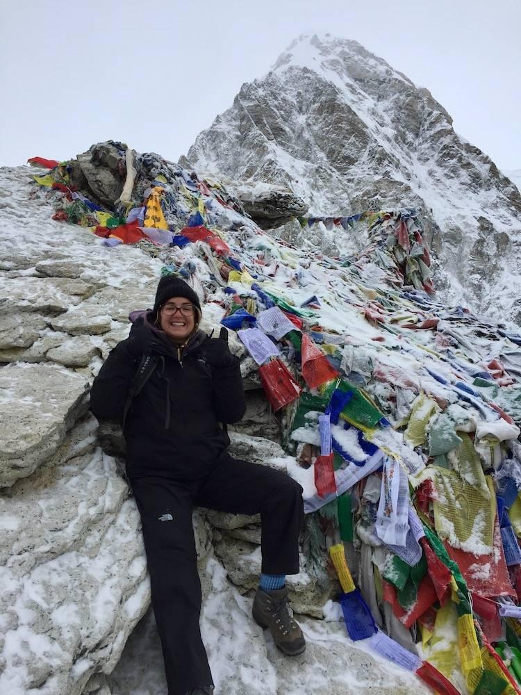 Me on the Everest Base Camp trek pre-entrepreneurial journey