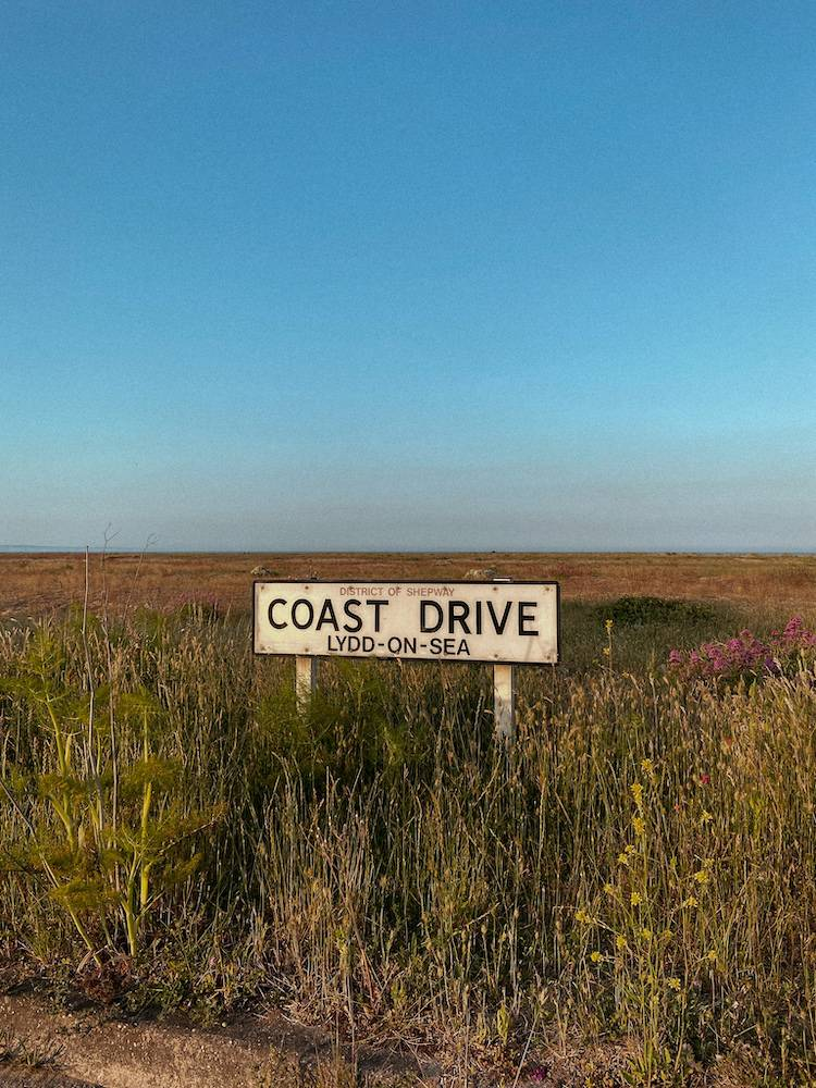 Coast drive sign, Lydd on Sea, Dungeness