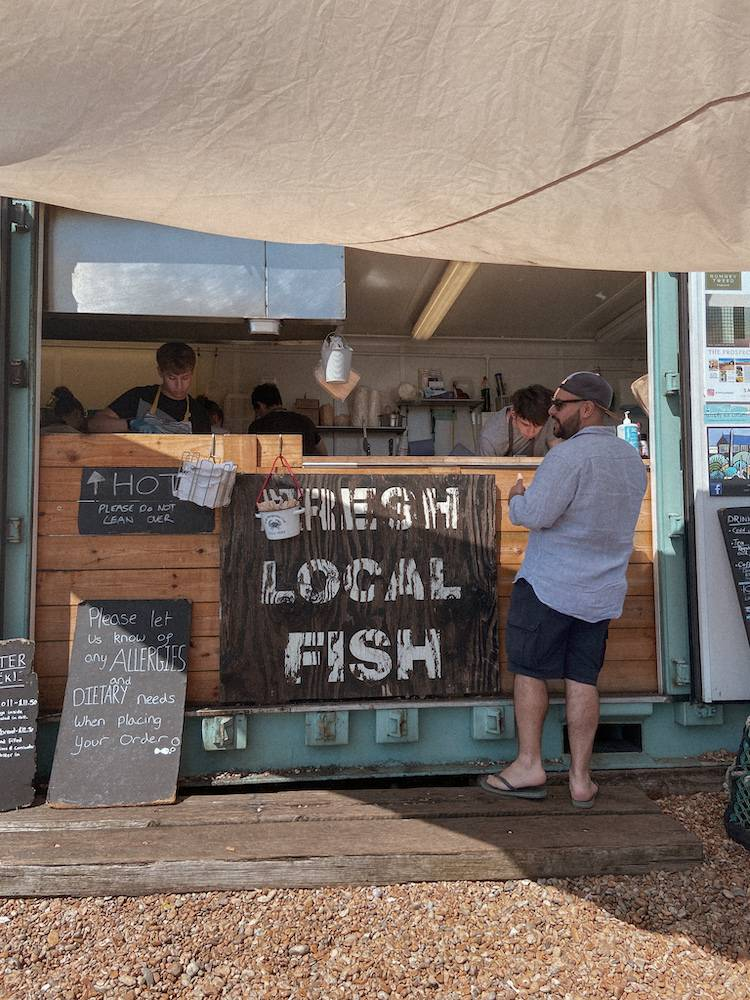 Fresh local fish in Dungeness