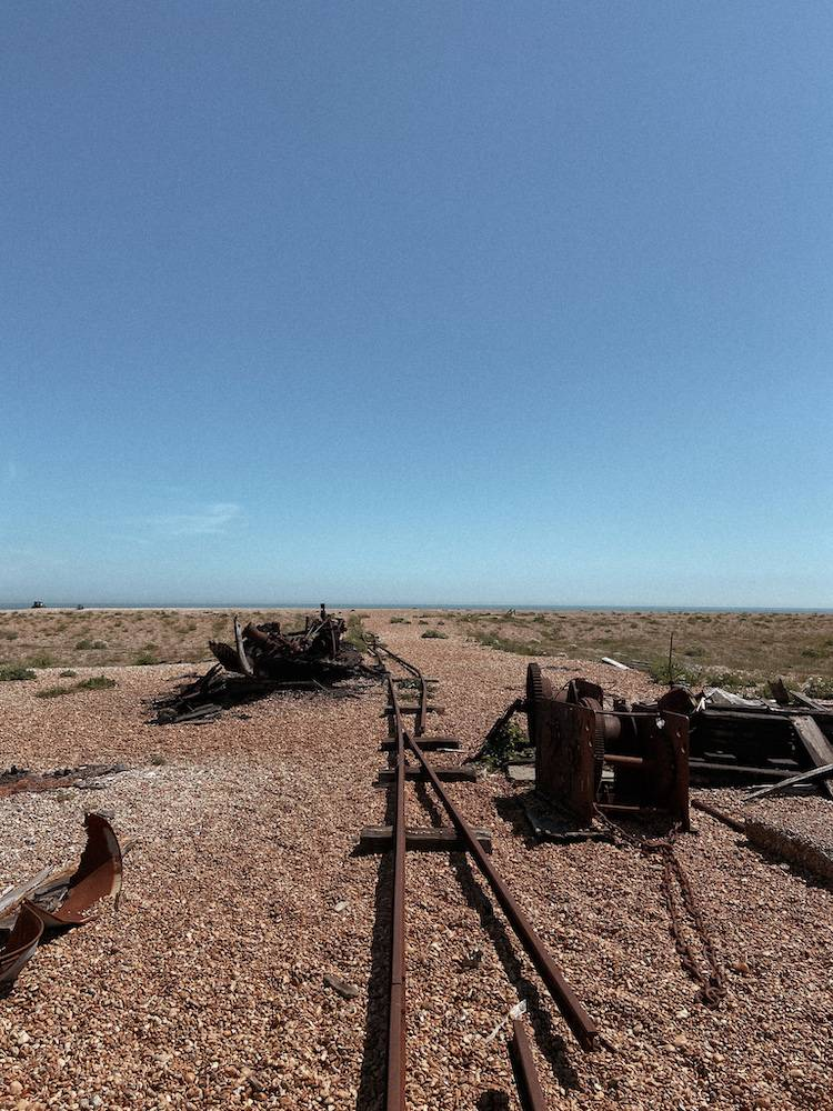 Abandoned machinery on Dungeness beach
