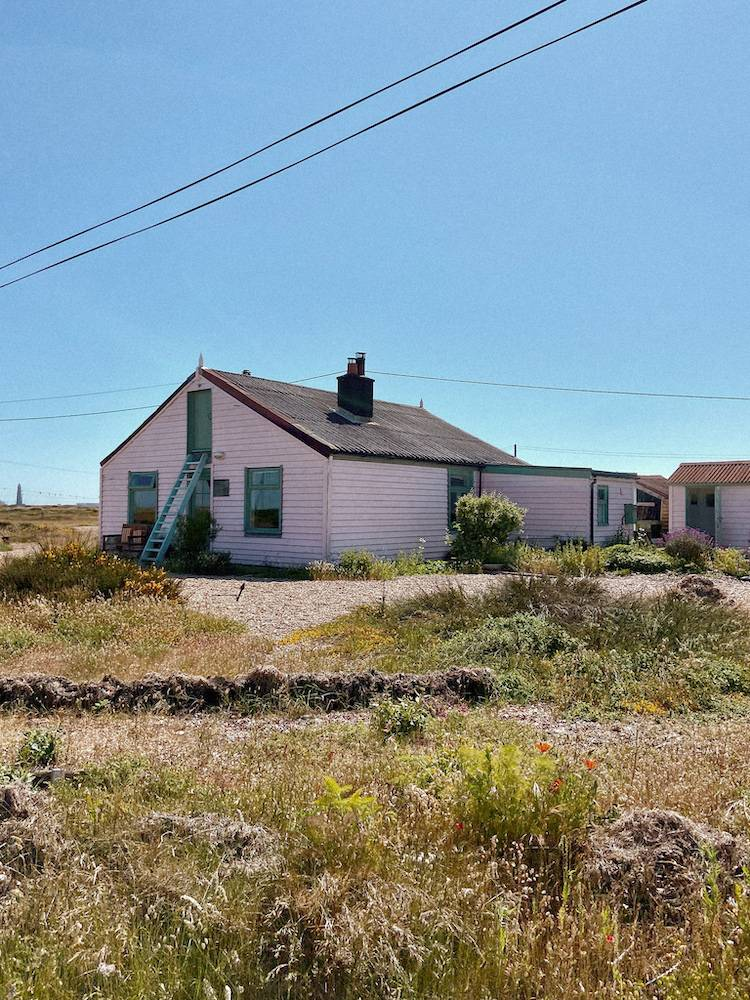 Pink house in Dungeness
