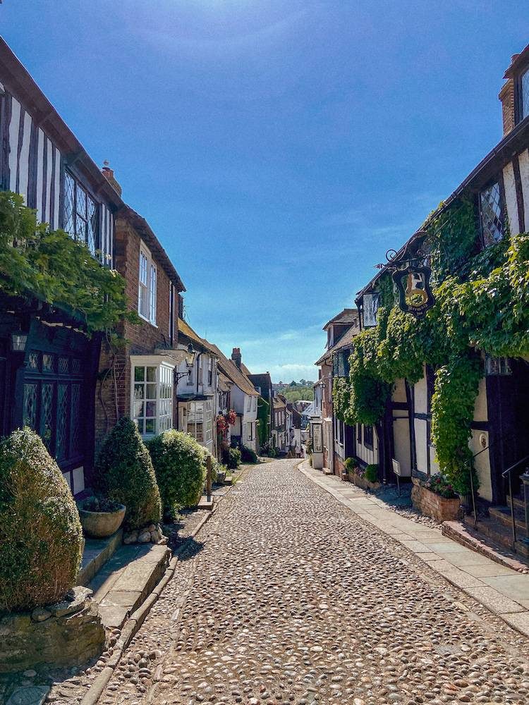 The pretty streets of Rye, East Sussex near to Dungeness