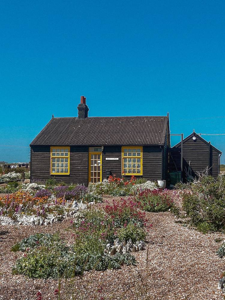 Prospect cottage from the front in Dungeness