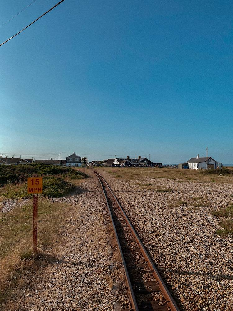 Railway line through the heart of Dungeness