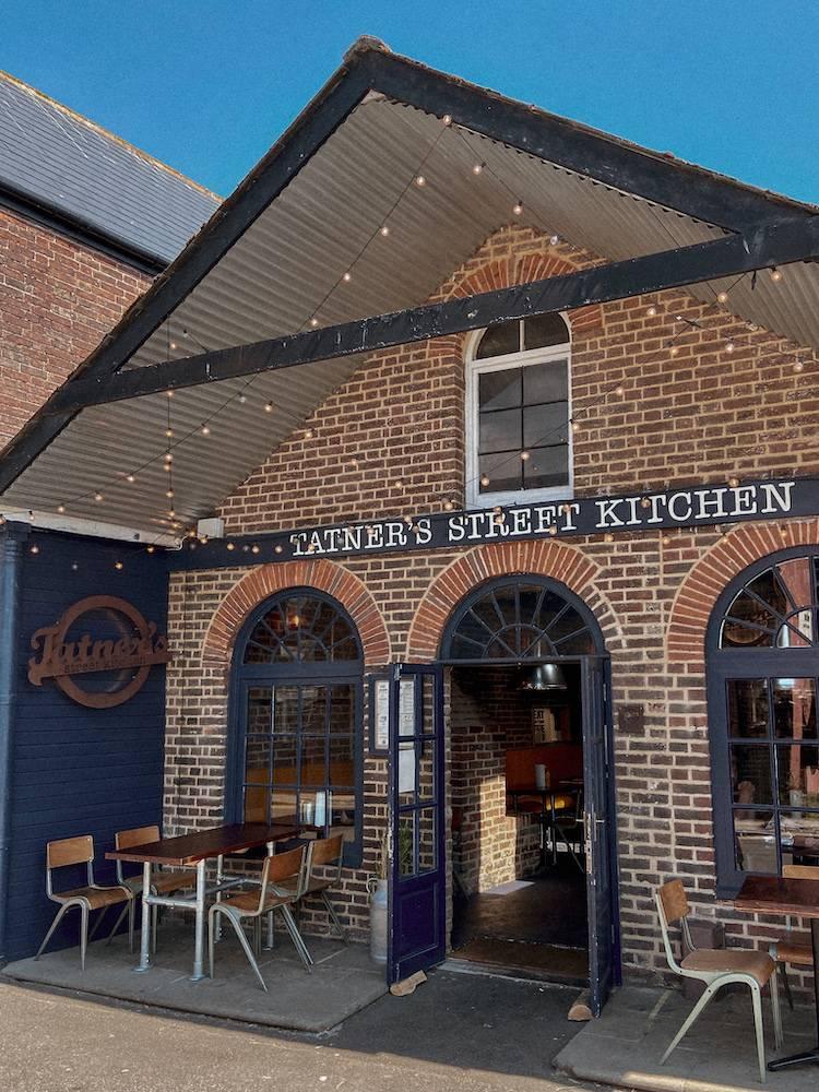 Exterior of Tatner's street kitchen restaurant in Rye, East Sussex near Dungeness