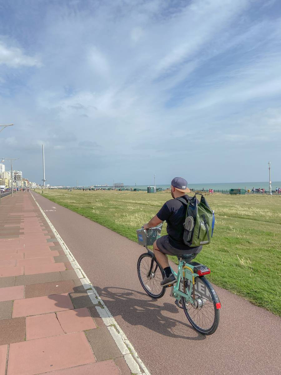 A morning cycle along the sea front in Brighton