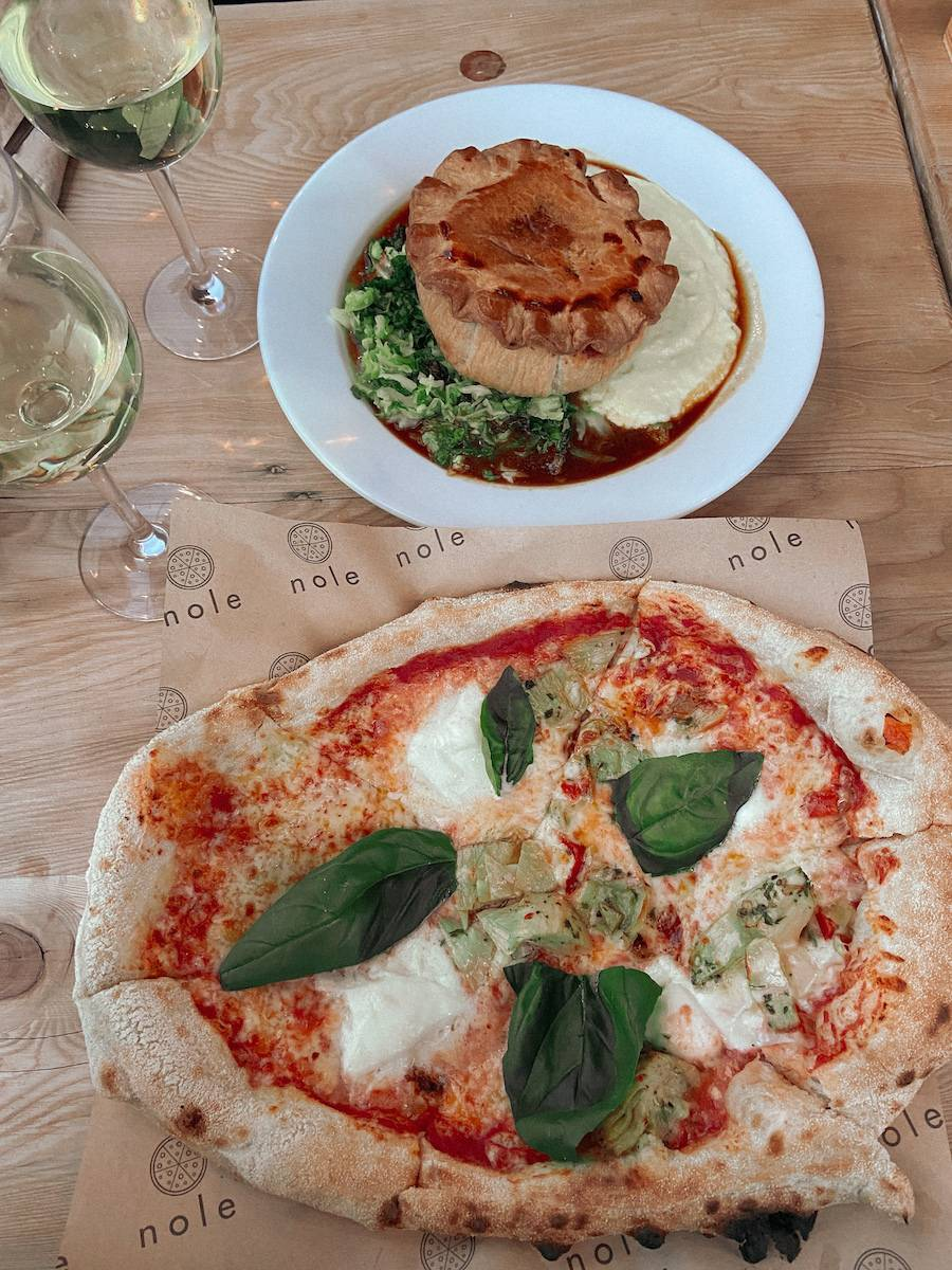 Nole pizza and pie at The Dog and Gun Pub in Netheravon during my UK summer staycation tour