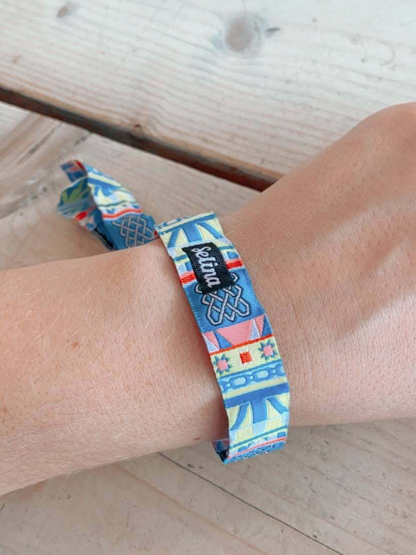 Material wristband from Selina Brighton where we stayed during our UK summer staycation