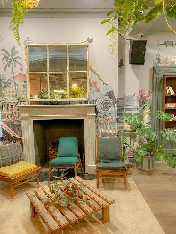 The interior of Selina hostel Brighton which was the first stop on my summer staycation tour