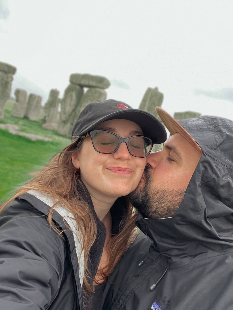 Selfie at Stonehenge. The world heritage site was stop 4 on our UK summer staycation tour
