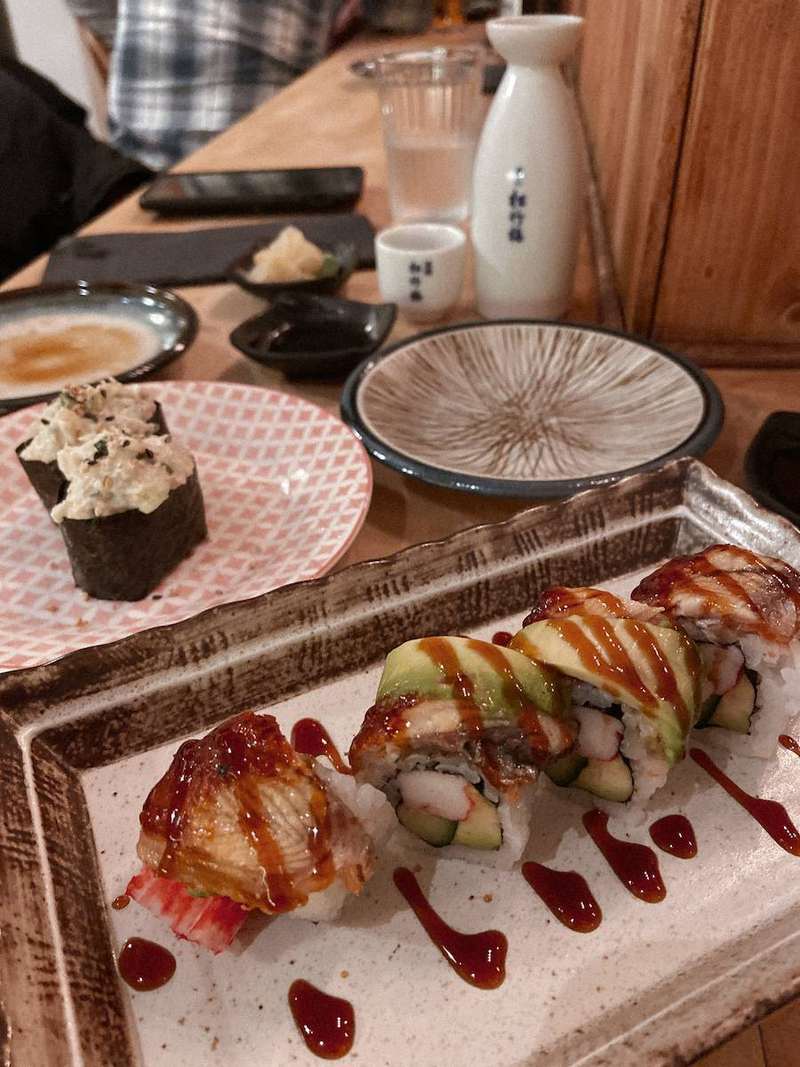 Sushi dinner at Aji Sushi in Hove - stop 1 on our uk summer staycation tour